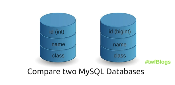 compare MySQL databases