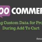 Adding Custom Data for Products During Add To Cart