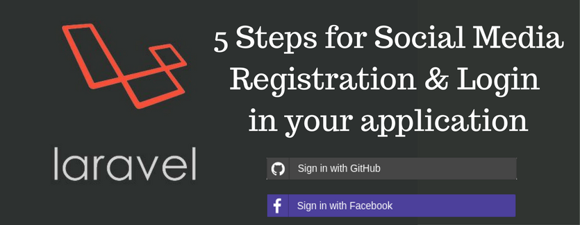 Adding social media registration and login to laravel application.