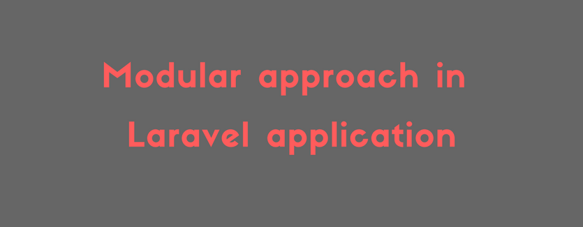 Modular approach in Laravel application (1)