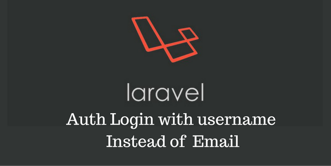 Auth Login with username Instead of Email