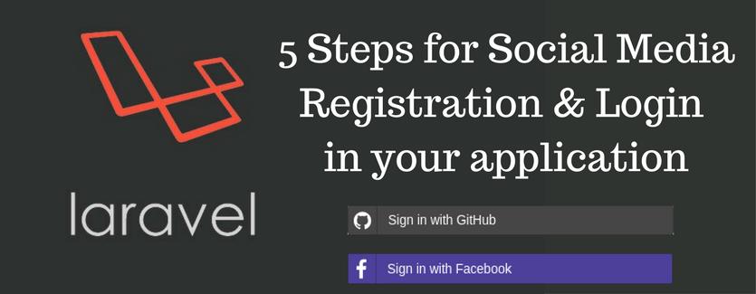 Adding social media registration and login to laravel application.
